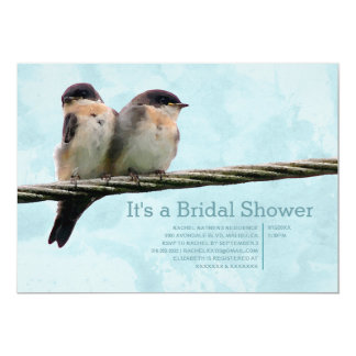 "Love Birds Bridal Shower Invitations 5"" X 7"" Invitation Card"