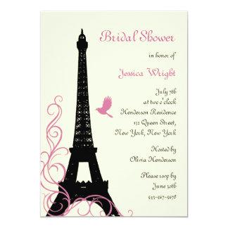Love Birds Bridal Shower (off white) 5x7 Paper Invitation Card