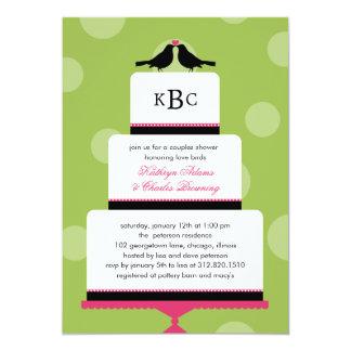 Love Birds Cake Wedding Shower Invitation