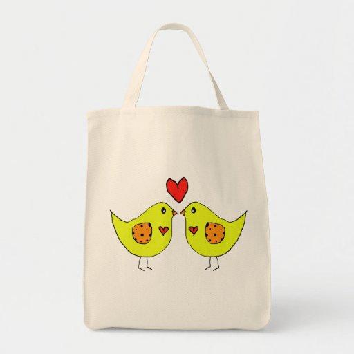 love birds canvas bags