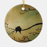 Love birds ceramic ornament