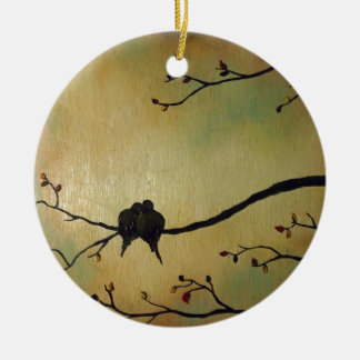 Love birds ceramic ornament
