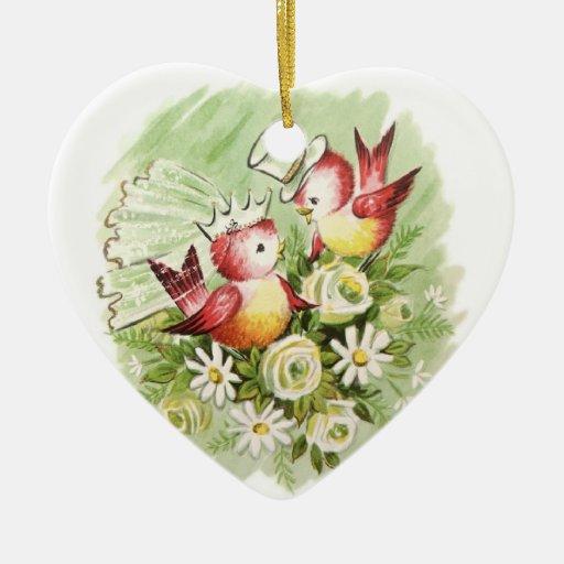 Christmas Tree Decorations Bird : Love birds christmas tree ornaments zazzle