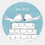 Love Birds Classic Round Sticker