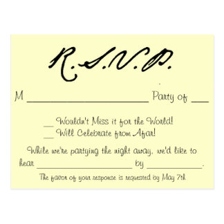 Love Birds Collection RSVP Card