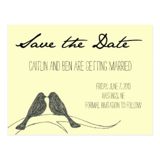 Love Birds Collection: Save the Date Postcard