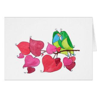 "Love Birds, ""Congratulations"" Card"