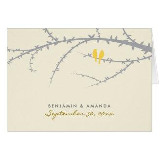 Love Birds Custom Thank You Card (lemon)