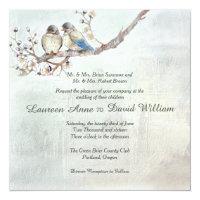 Love Birds Custom Wedding Invitation