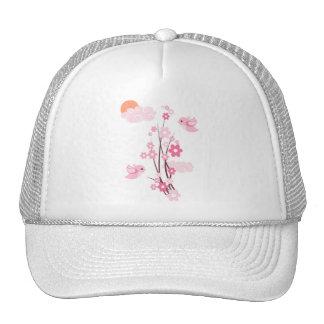 Love Birds & Delicate Flowers Trucker Hat