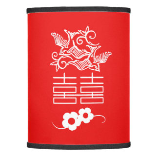 Love Birds - Double Happiness - Chinese Lamp Shade