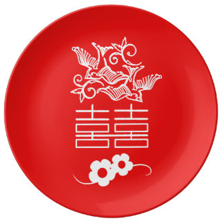 Love Birds - Double Happiness - Decorative Plate