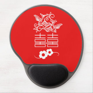 Love Birds - Double Happiness - Feng Shui Gifts Gel Mouse Pad