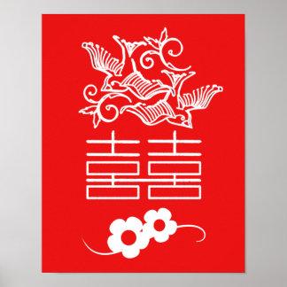 Love Birds - Double Happiness - Feng Shui Wall Art