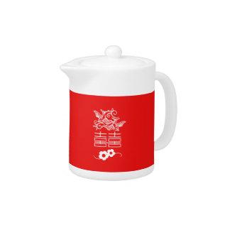 Love Birds - Double Happiness - Tea Pot at Zazzle