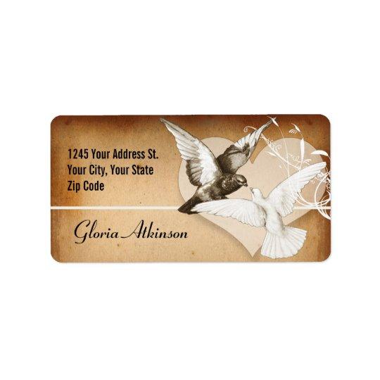 love birds elegant vintage address labels