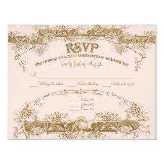 Love Birds Etching Glamorous Vintage Wedding Blush Invitations