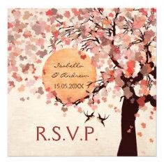 Love Birds - Fall Wedding RSVP Card
