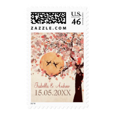 Love Birds - Fall Wedding Save the Date Postage