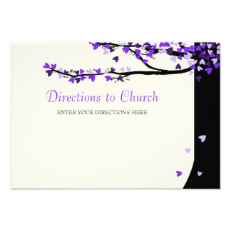 Love Birds Falling Hearts Directions Card