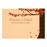 Love Birds Falling Hearts Directions Card Announcement