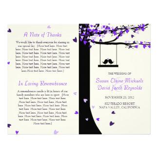 Love Birds Falling Hearts Oak Tree Program Flyer