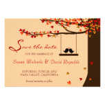 Love Birds Falling Hearts Oak Tree Save the Date Personalized Announcement