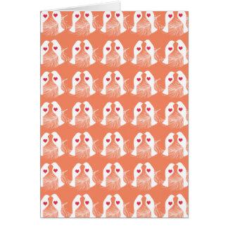 Love Birds & Feathers Orange Pattern Card