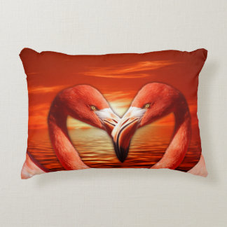Love Birds Flamingoes In Love Accent Pillow