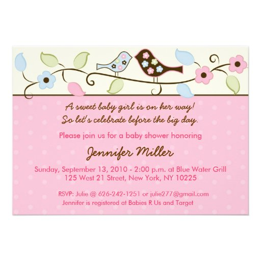 Bird Baby Shower Invitations could be nice ideas for your invitation template