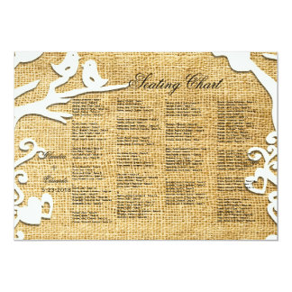 Love Birds Forever on Burlap 5x7 Paper Invitation Card
