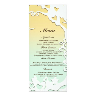 Love Birds Forever on Pastel Yellow & Sky Blue Card
