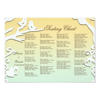 Love Birds Forever on Pastel Yellow & Sky Blue 5x7 Paper Invitation Card