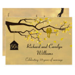 Love Birds Golden Anniversary Invitation at Zazzle