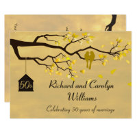 Love Birds Golden Anniversary Invitation
