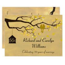 Love Birds Golden Anniversary Invitation
