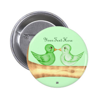 Love Birds (Green) Pins