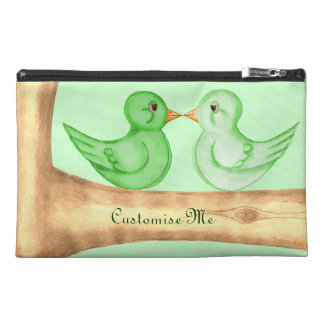 Love Birds (Green) Travel Accessories Bags