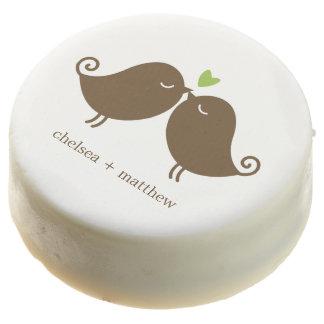 Love Birds {green} Wedding Chocolate Covered Oreo
