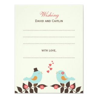 Love Birds Guest Book Cards