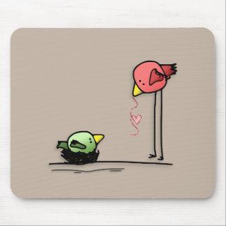 love birds heart cartoon baby family worm mouse pad