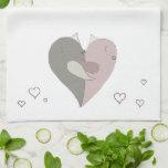 Love Birds Heart Kitchen Towels