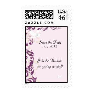Love Birds in Flight Postage Stamps