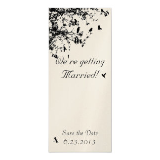 "Love Birds in the Trees 4"" X 9.25"" Invitation Card"