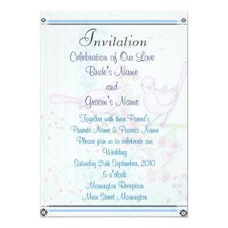 "Love Birds Invites 5"" X 7"" Invitation Card"
