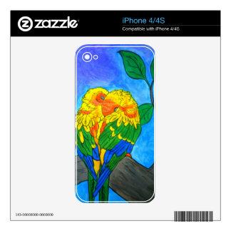 Love Birds Iphone 4 case Skin For iPhone 4