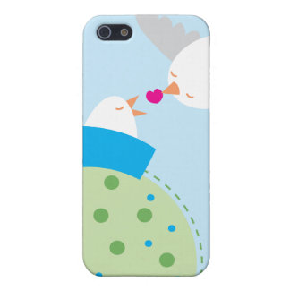 love birds kissing hearts case for iPhone SE/5/5s