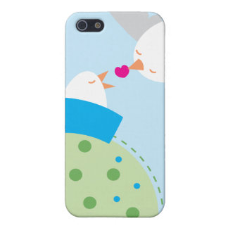 love birds kissing hearts iPhone SE/5/5s cover