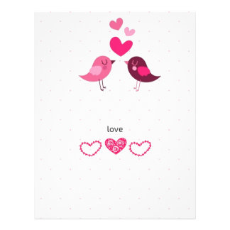 Love Birds Letterhead
