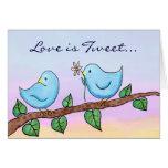 Love Birds, Love is Tweet... Greeting Card